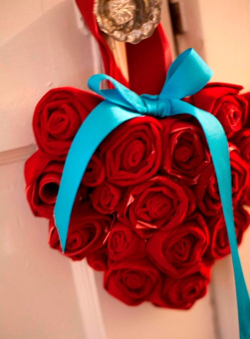 Дизайн входной двери ко Дню Святого Валентина