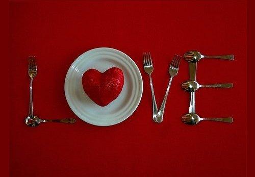 День Влюбленных - сервируем стол