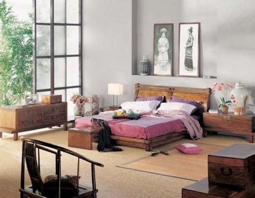 Интерьер спальни в китайском стиле