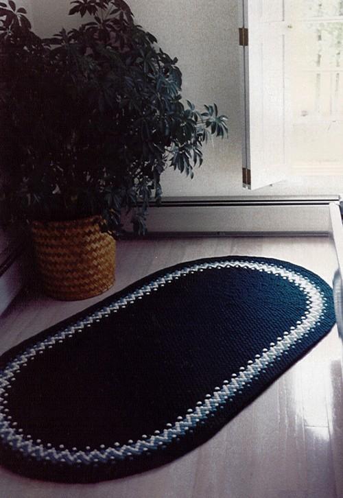 Плетеные коврики в интерьере