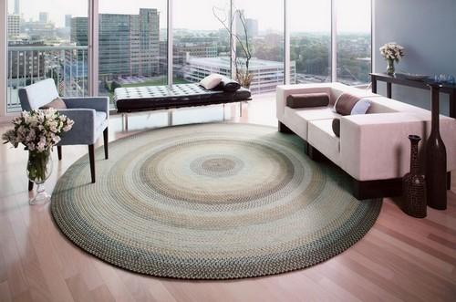 Плетеные коврики в современном интерьере