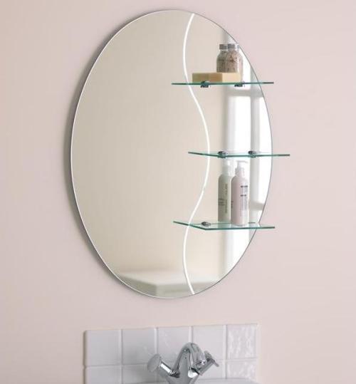 Стеклянные полки для ванной