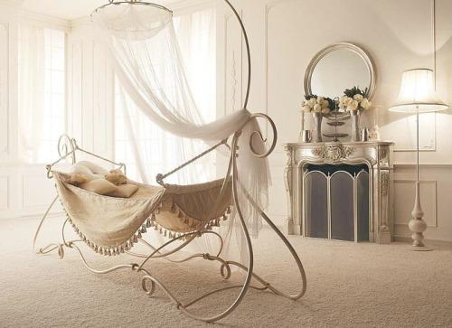 Кровать-гамак деткая кованая