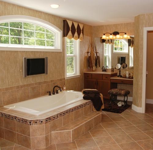 Ванная комната в романском стиле