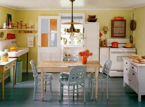 Сине-желтая кухня фото
