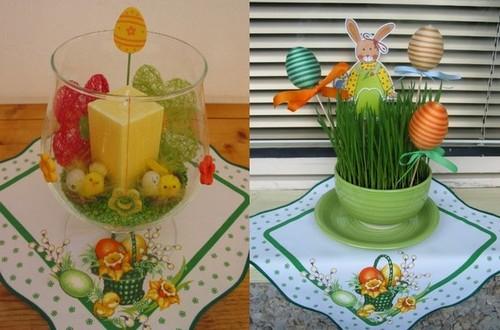 Красивая вышивка пасхальные салфетки под вазы и вазоны для цветов