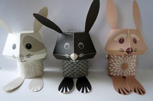 Поделки из бумаги к Пасхе - пасхальные кролики