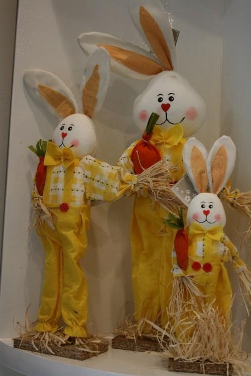 Пасхальные кролики декоративные