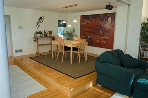 Подиум в однокомнатной квартире