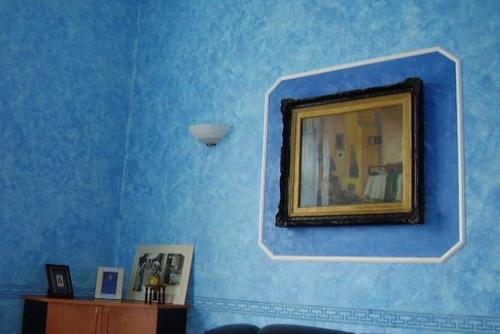 Синий цвет декоративной штукатурки