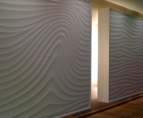 Волнистая фактура декоративной штукатурки для стен