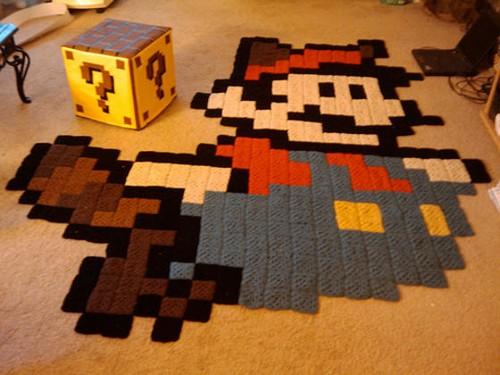 Детские вязаные коврики