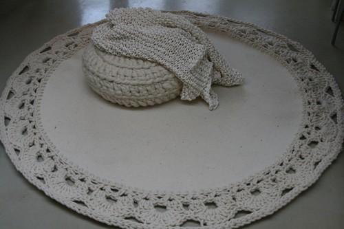 Вязаные коврики своими руками
