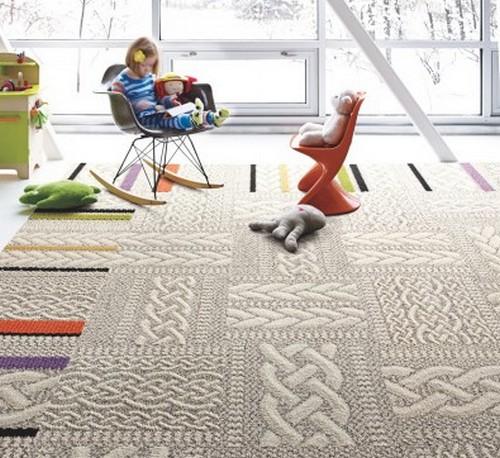 Вязаные ковры в современном интерьере