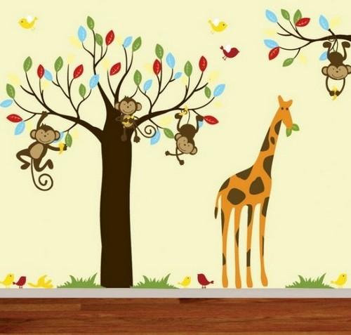 Африканские мотивы - наклейки на стену в детской