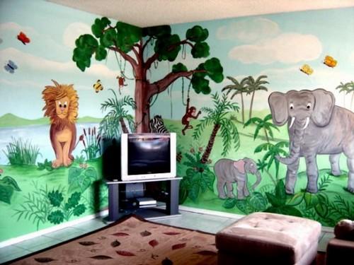 Африканские мотивы в декоре стен в детской