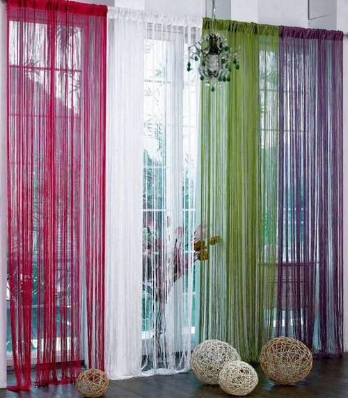 Веревочные шторы в интерьере