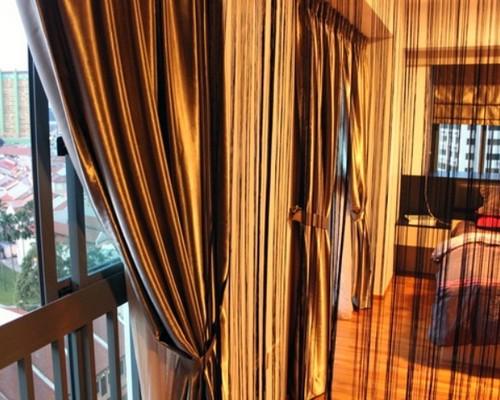 Веревочные шторы кисея