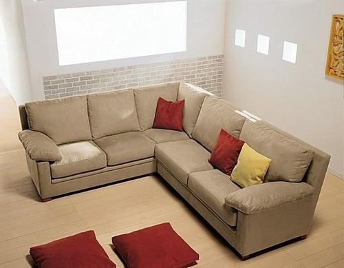 Угловой диван из натуральной кожи