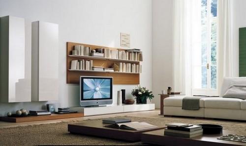 Мини стенка в гостиную с местом под телевизор