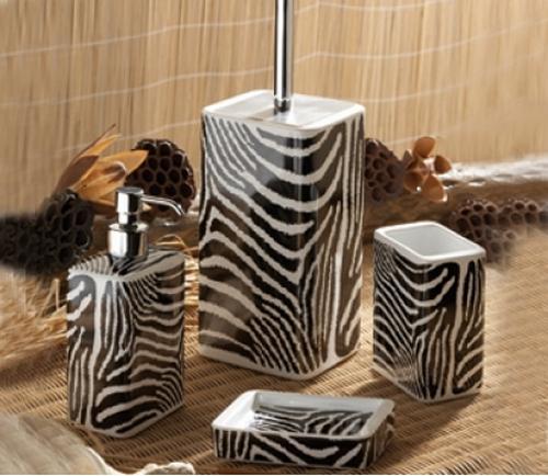 Декор в стиле сафари, принт зебры