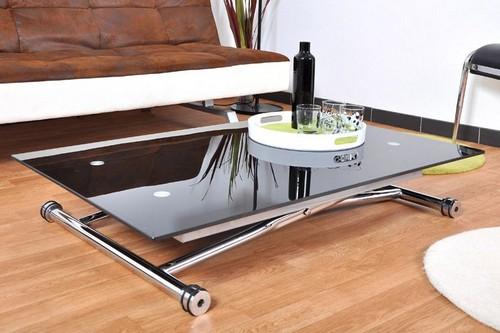 стол трансформер журнальный обеденный стеклянный