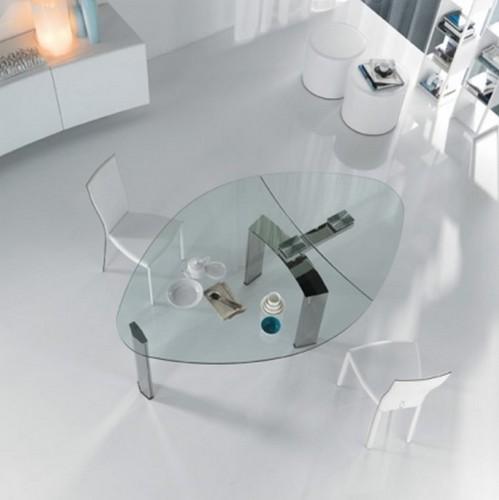 стол трансформер обеденный стекло