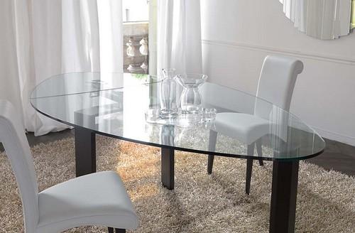 Стол трансформер обеденный раскладной стеклянный