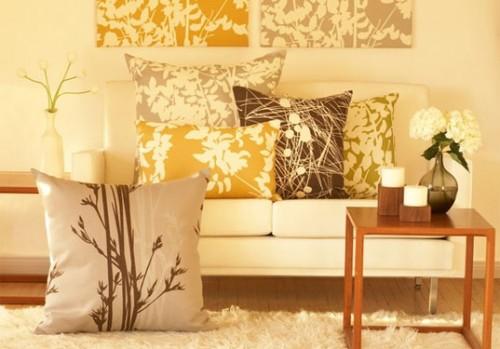 Весенний интерьер - декоративные подушки