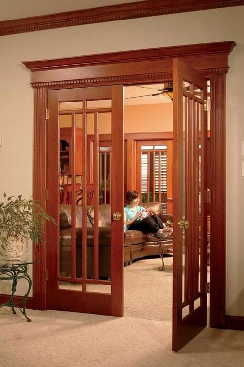 Межкомнатные элитные двери со стеклом