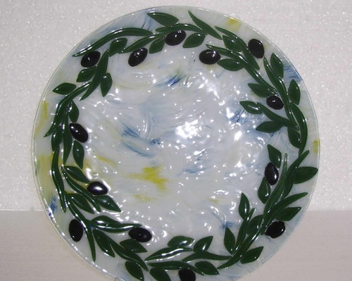 Фьюзинг стекла на декоративной тарелке
