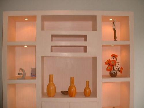 Декоративные ниши в стене из гипсокартона