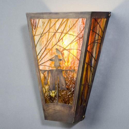 Настенные витражные светильники