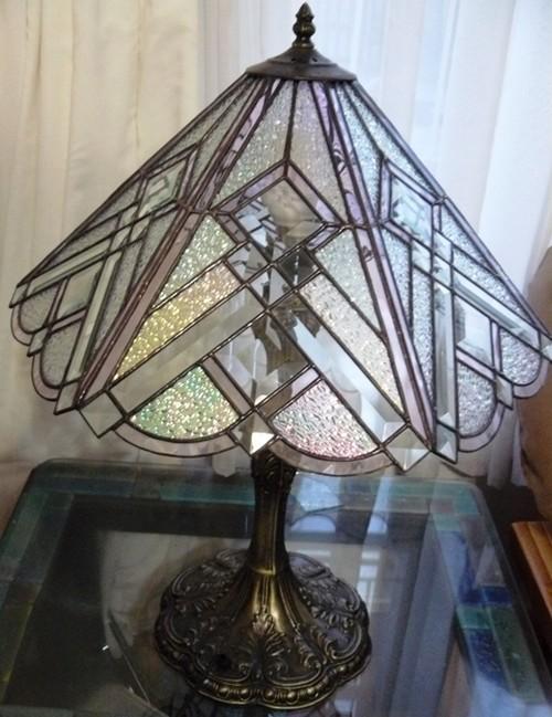 настольные лампы витражные
