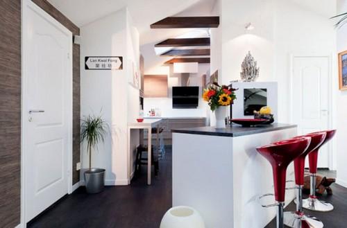 Барные стулья для кухни в стиле минимализм