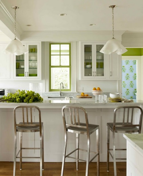 Металлические барные стулья для кухни