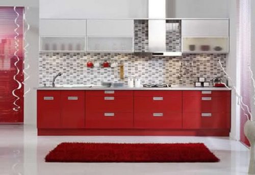 Мозаичный кухонный фартук