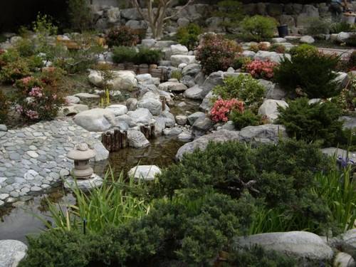 Ручей в саду фото
