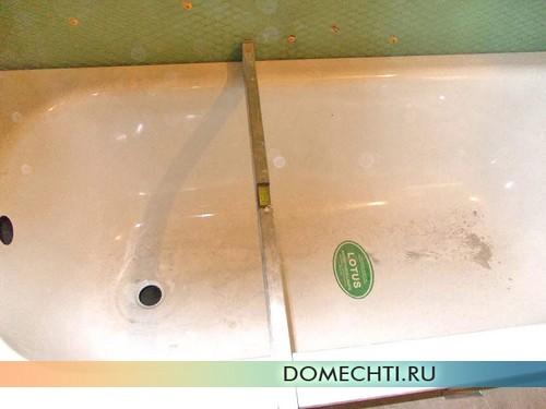 Установки ванны своими руками фото
