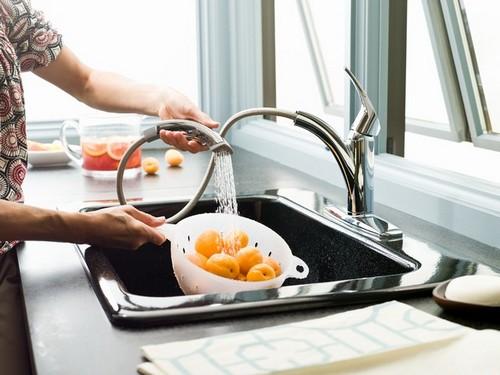 Смеситель-душ для кухни фото