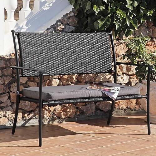 Плетеная мебель для дачи - скамейка