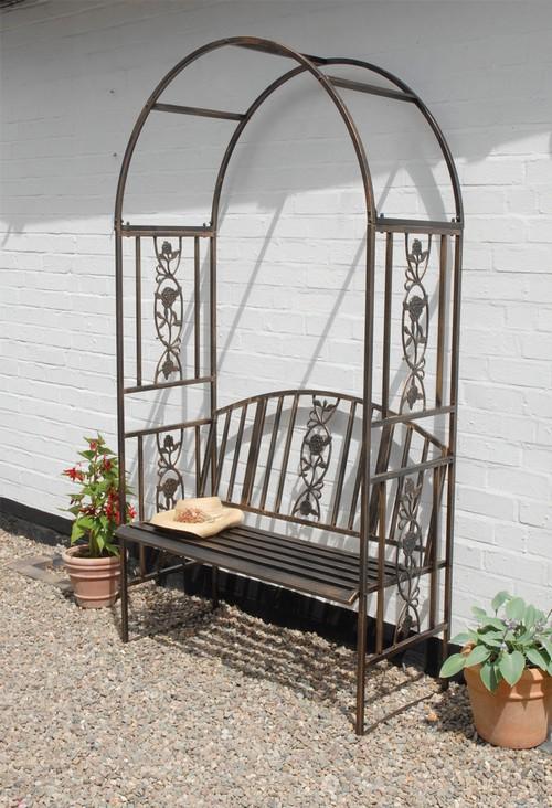 Арка садовая со скамейкой