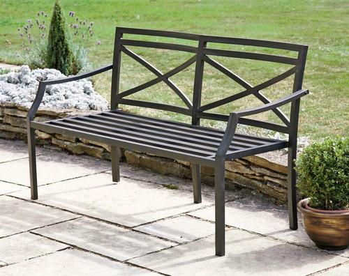 Скамейка металлическая садовая