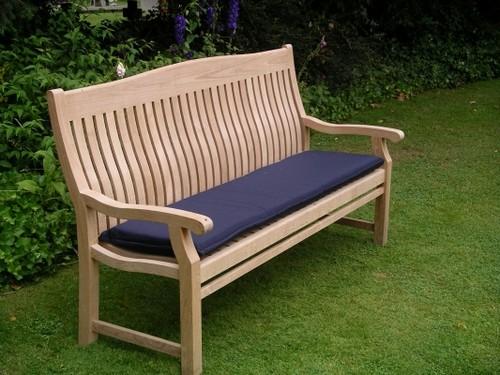 Мягкая скамейка садовая фото