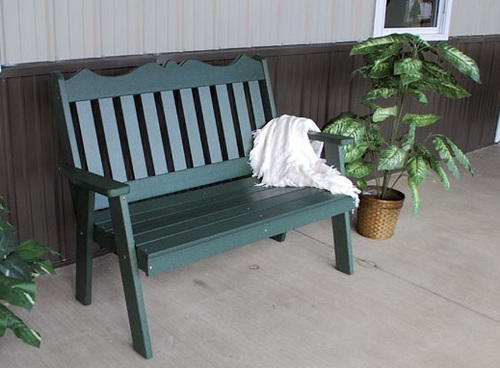 Пластиковая складная садовая скамейка