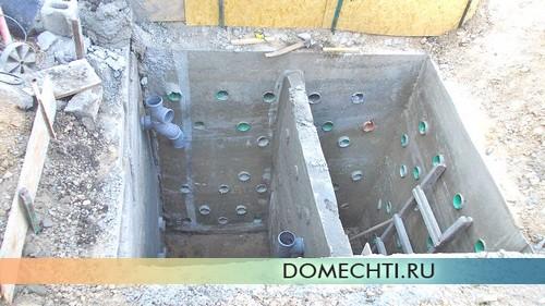 Как сделать бетонный септик для дачи своими руками