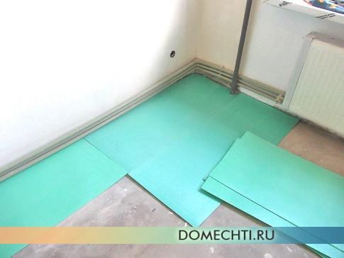 Укладка ламината на бетонный пол своими руками  фото
