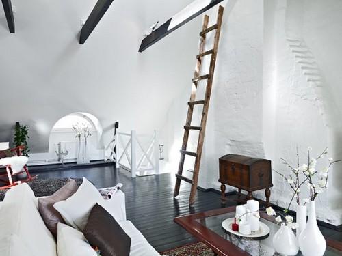 Современный дизайн двухуровневой квартиры