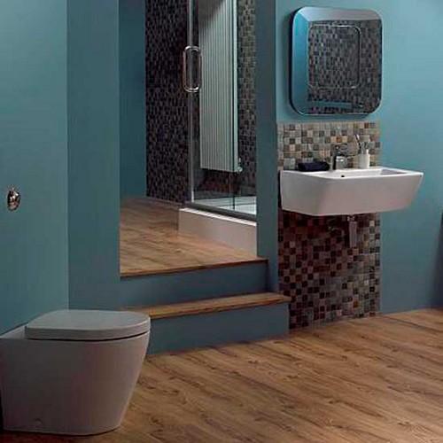 Сочетание коричневого цвета в интерьере ванной комнаты