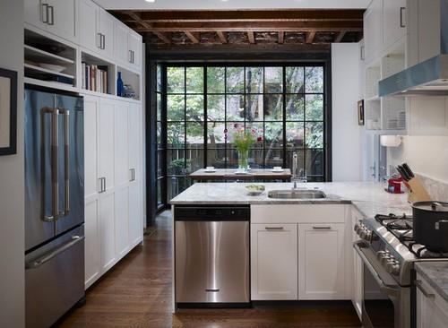 Мебель для кухни с эркером